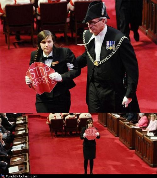 Canada Hall of Fame political pictures Protest protestors stephen harper