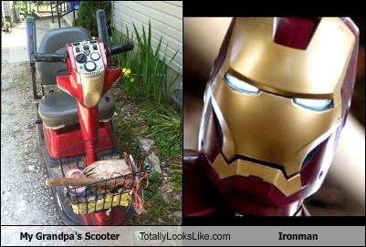 Grandpa,ironman,movies,scooter,superheroes