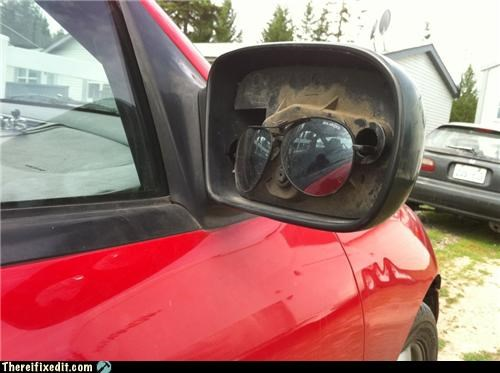 cars dual use glasses side mirror sunglasses - 4830817536