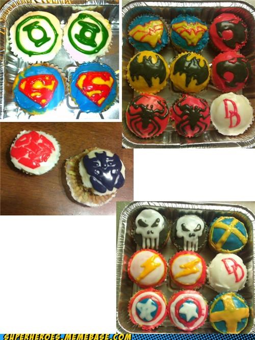 awesome Awesome Art cupcakes delicious food symbols - 4831246592