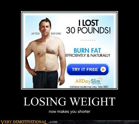 LOSING WEIGHT now makes you shorter