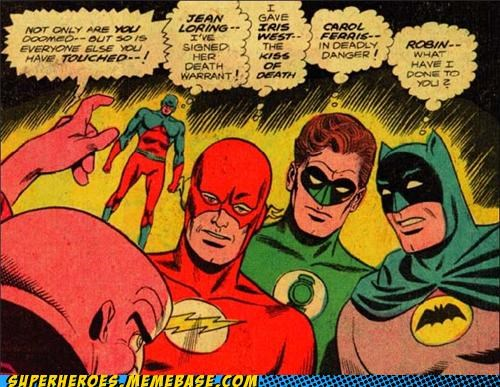 bad touch batman flash Green lantern Straight off the Page - 4832704512