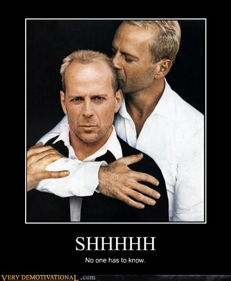 bruce willis,creepy,hilarious,shh,wtf