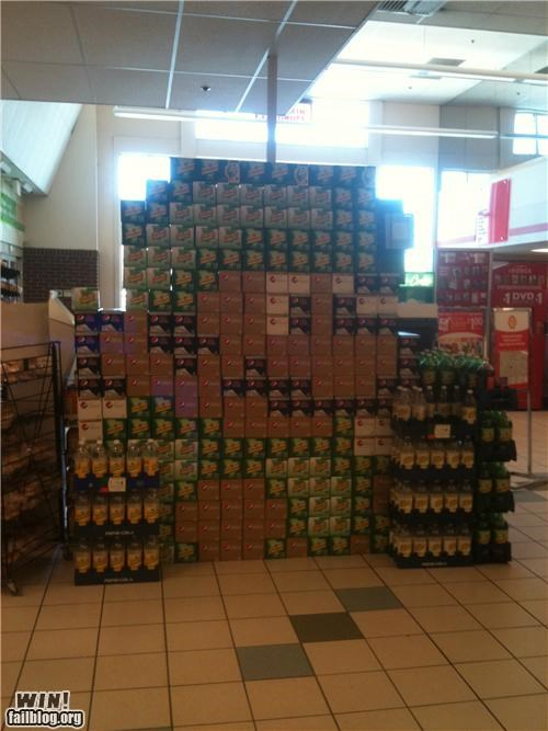 luigi nerdgasm soda display video games