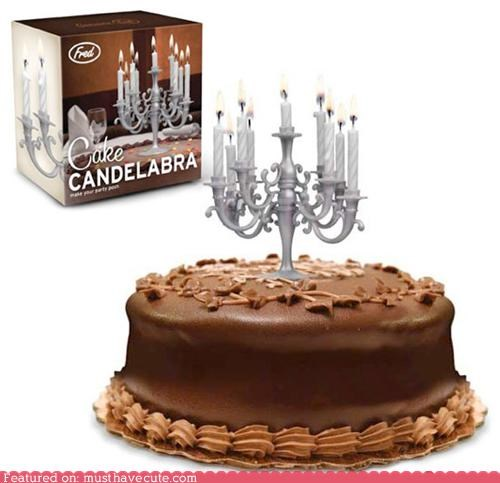 Cake Candelabra with Candles Topper