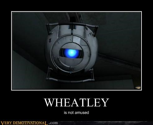 amused,hilarious,portal 2,video games,Wheatley