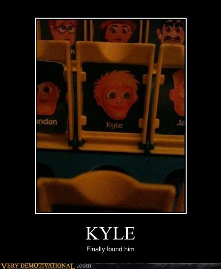 found game guess who hilarious kyle