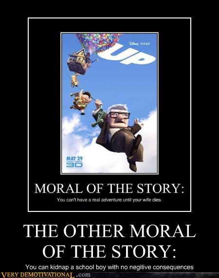 hilarious morals Movie pixar up wtf - 4834554368