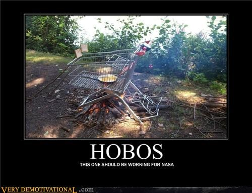 bbq hilarious hobo nasa shopping cart smart