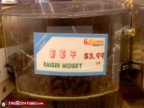 engrish,food,raisin