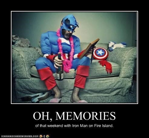 captain america fire island iron man memories Super-Lols - 4835220224