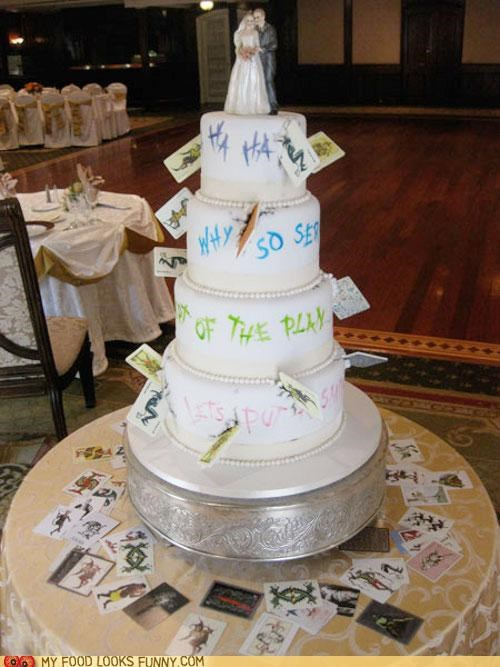 batman,cake,joker,marriage,playing cards,wedding
