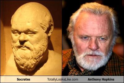 actors Anthony HOpkins philosopher socrates statues