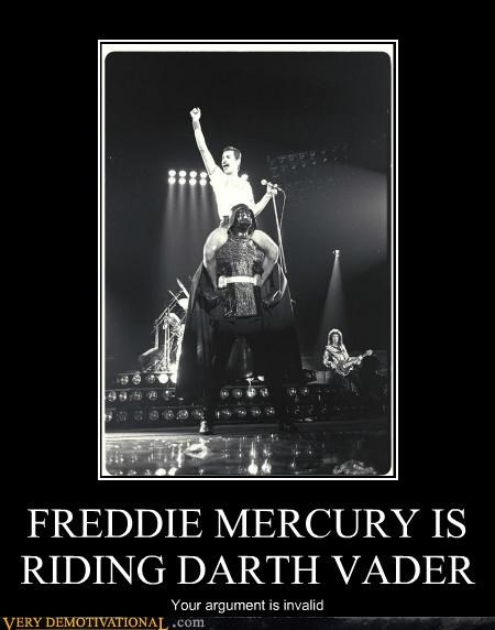 darth vader,freddie mercury,Pure Awesome,queen