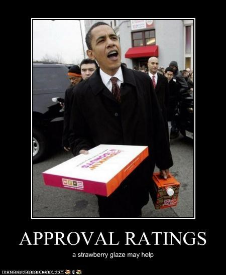 APPROVAL RATINGS a strawberry glaze may help