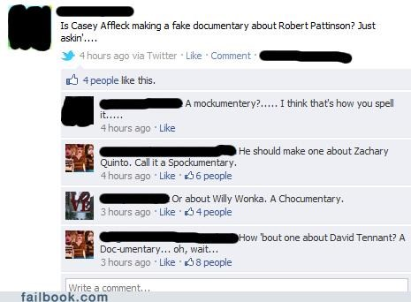 documentary,doctor who,games,robert pattinson,Willy Wonka,witty reply