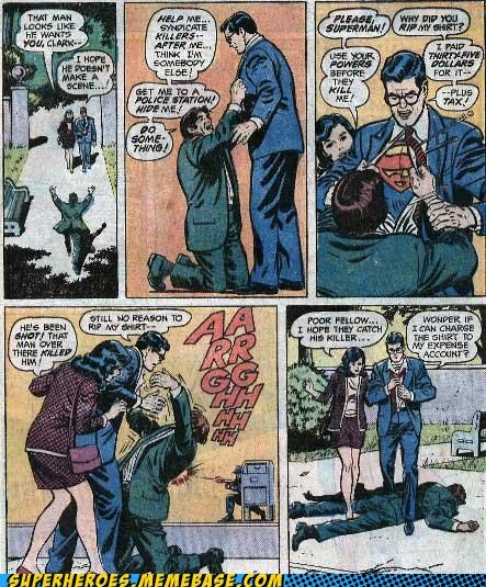 Clark Kent,dying guy,lois lane,Straight off the Page,wtf