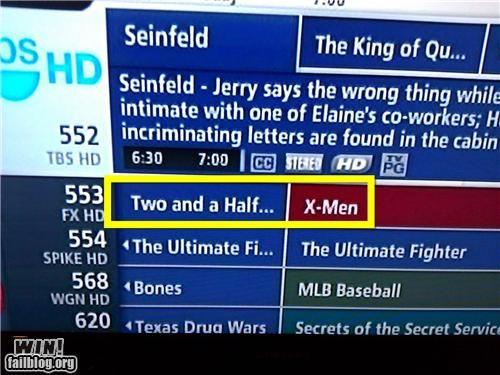 juxtaposition television tv guide x men - 4838013184