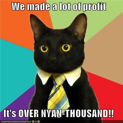 Business Cat business-nyan-9000 dragonball meow profit