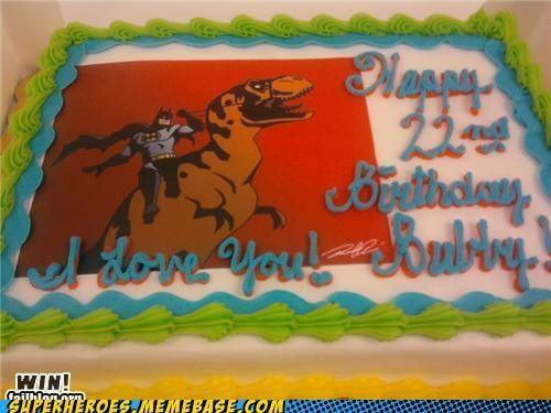batman birthday cake dinosaur food Random Heroics - 4838038016