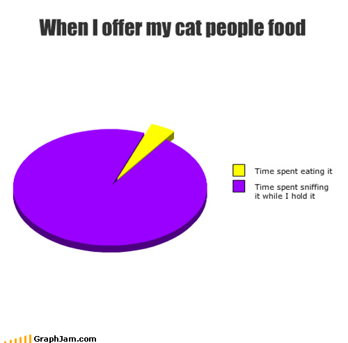 When I offer my cat people food