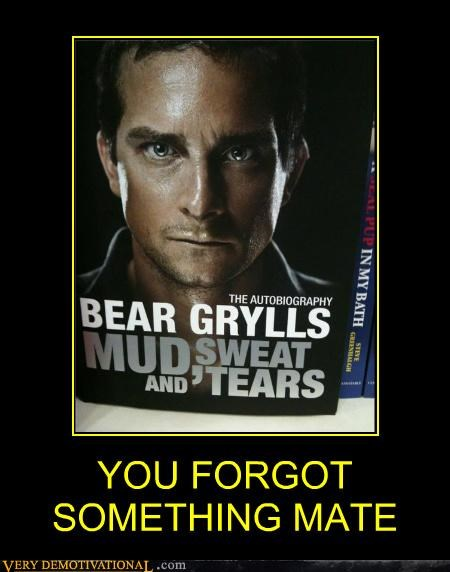 bear grylls,book,hilarious,urine,wtf