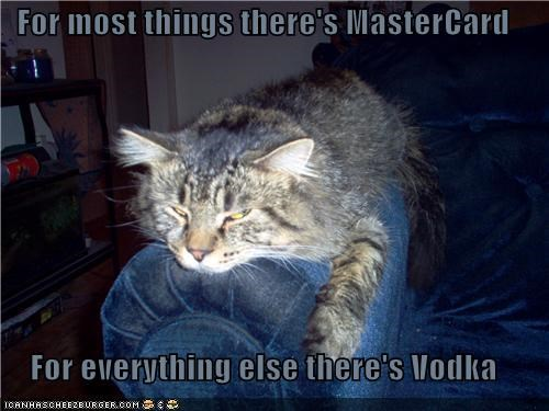 For most things there's MasterCard For everything else there's Vodka
