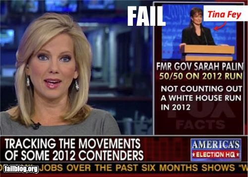 failboat fox news g rated news politics Sarah Palin screenshot tina fey wrong picture - 4838501120