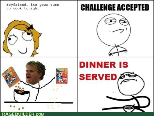 cereal cooking dinner FAIL Rage Comics - 4839103232
