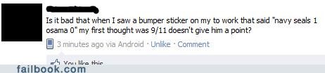 911,bumper sticker,navy seals,Osama Bin Laden