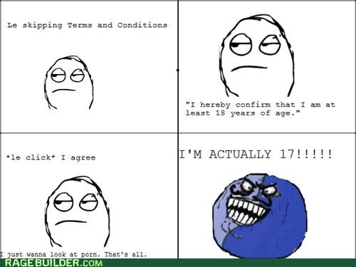 age,i lied,Rage Comics,terms and conditions