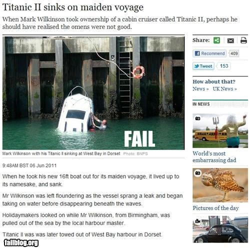england failboat g rated obvious Probably bad News ship sink titanic - 4839301120