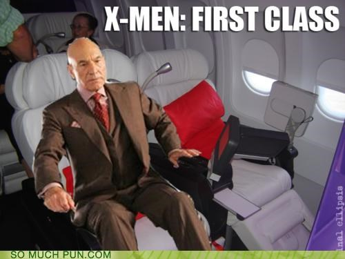 airplane,double meaning,first class,literalism,Movie,plane,professor x,seating,xavier,x men,x-men first class