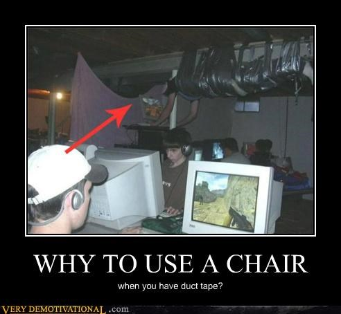 chair duct tape hilarious wtf - 4839447552