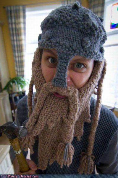 beard dwarf hat knit