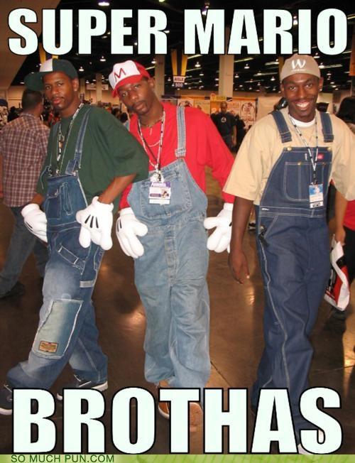 contradiction,contradictory,cosplay,costume,lolwut,mario,meme,Super Mario bros,super mario brothers
