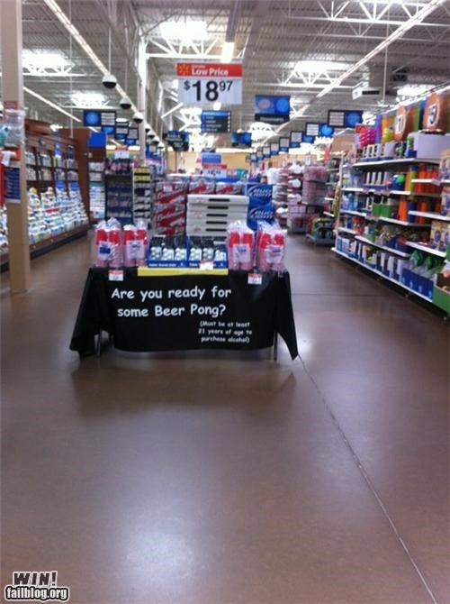 beer beer pong display games grocery store shopping - 4839668736