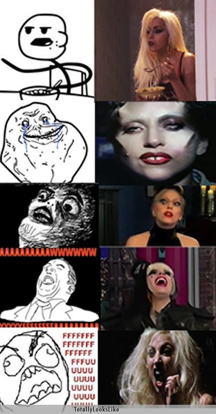 aww yeah cereal guy fffuuu forever alone Hall of Fame lady gaga Memes musicians Rage Comics raisins - 4839790080