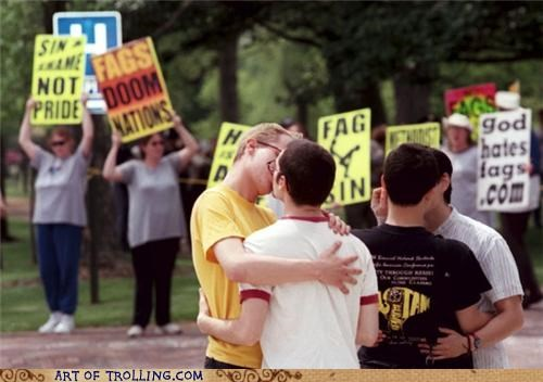 IRL kissing owned Westboro Baptist Church - 4839963904