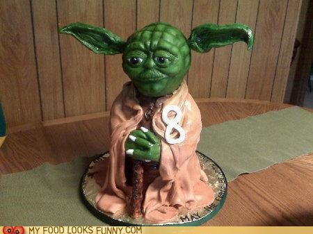 birthday cake ears fondant star wars yoda - 4839991296