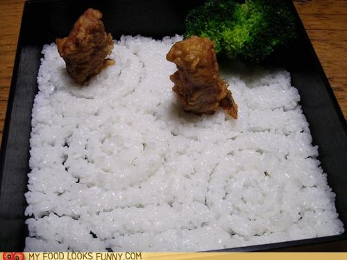 bento broccoli fried garden rice sand starving zen - 4839993600