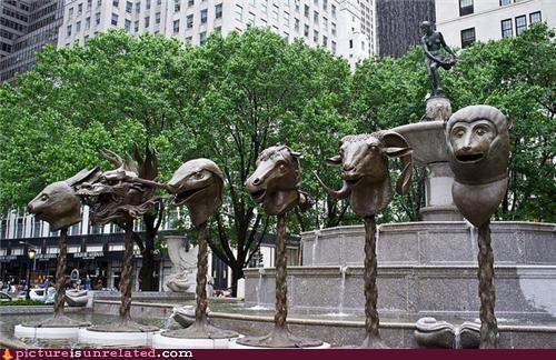 creepy heads sculpture wtf - 4840307456