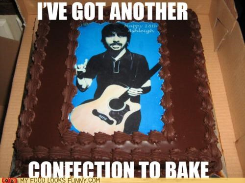birthday cake chocolate confection Dave Grohl foo fighters frosting - 4840321024