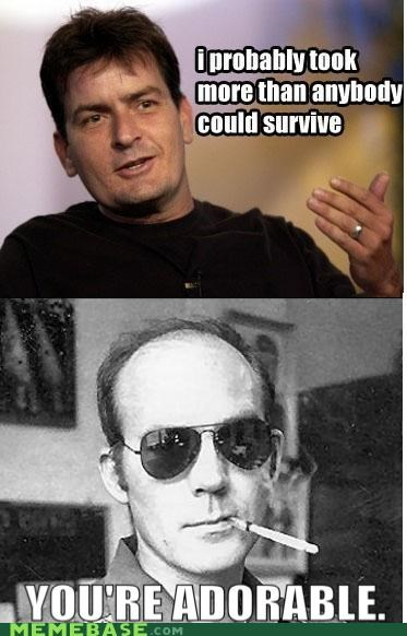 adorable,Charlie Sheen,fear and loathing,Hunter S Thompson,the white stuff