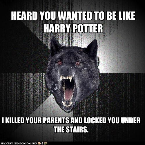 books Harry Potter Insanity Wolf stairs voldemort you-know-who