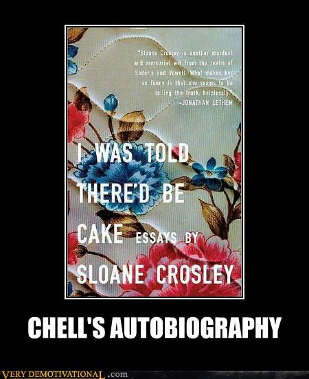 autobiography cake chell hilarious - 4840653056