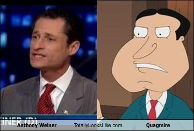 Anthony Weiner family guy politicians quagmire scandal