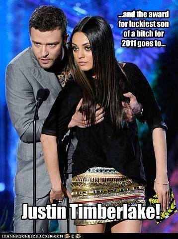 actor celeb funny Justin Timberlake mila kunis - 4841249280