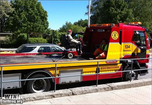 awesome scooter tow truck towing - 4841426176