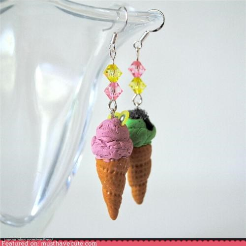 blog contest earrings free ice cream win - 4841624832